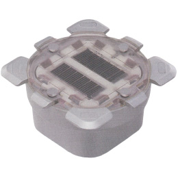 Solar road stud for small intersection