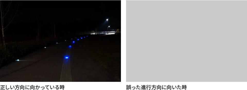 避難誘導灯(赤・青)特徴画像